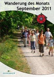 Wanderung des Monats September - Stadt Gernsbach