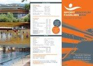 Sporthalle, Hallenbad, Infrarotkabine, Solarium, Sauna und ...