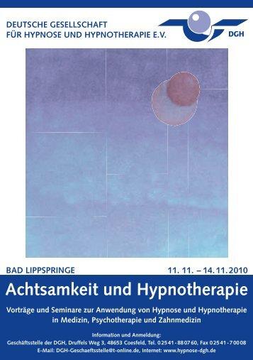 Achtsamkeit und Hypnotherapie - Dr. Michael Bohne