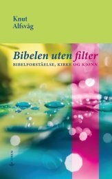 Bibelen uten filter : Bibelforstålse, kirke og kjønn
