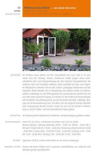 Die Wellness Sauna Gifhorn mit ihrer Gesamtfläche von rund 1.600 ...