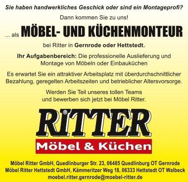 Möbel- und Küchenmonteur bei Möbel Ritter in Gernrode und Hettstedt