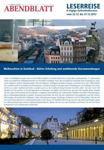 Reiseprospekt-Download - Leserreisen - Berliner Abendblatt