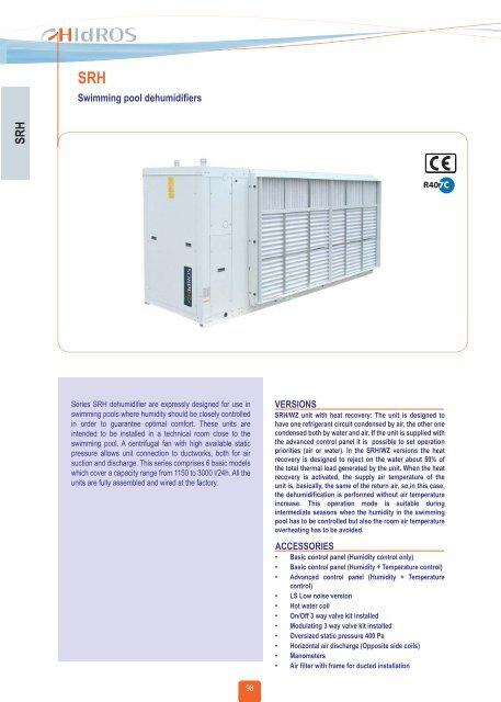 Swimming pool dehumidifiers - HITEX.lv