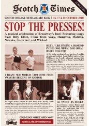 Stop The Presses   2020 Scotch Musicals Program