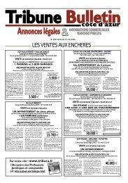 vente aux encheres publiques - Tribune Bulletin Côte d'Azur