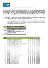 O SECRETÁRIO MUNICIPAL DE ADMINISTRAÇÃO, no uso das ...