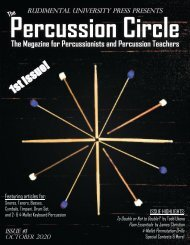 The Percussion Circle - October 2020