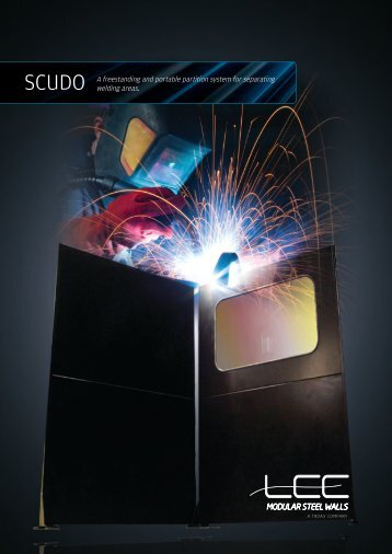 A freestanding and portable partition system for separating welding ...