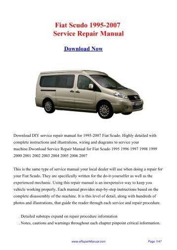 Fiat Scudo 1995-2007 Service Repair Manual