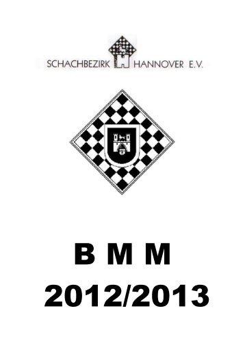 BMM-Saisonheft - Schachbezirk Hannover