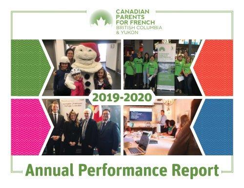 CPF BC & Yukon Annual Performance Report 2019-2020