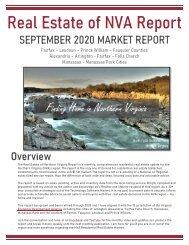 2020-09 -- Real Estate of Northern Virginia Market Report - September 2020 Market Trends - Michele Hudnall