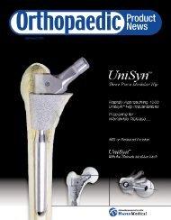 US Orthopaedic Product News. July/August 2005. - Orthoworld