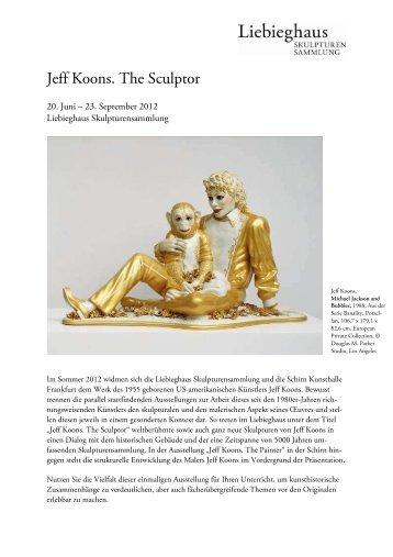 Jeff Koons. The Sculptor