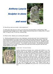 Anthony Lysycia Sculptor in stone and wood - Gardens and People