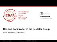 Gas and Dark Matter in the Sculptor Group
