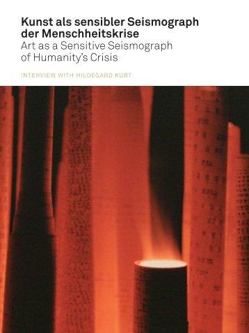 Kunst als sensibler Seismograph der ... - Hildegard Kurt
