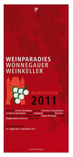 WEINPARADIES WONNEGAUER WEINKELLER - Worms