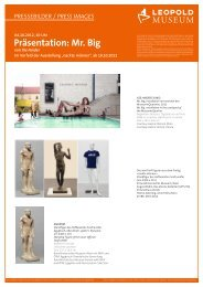 Präsentation: Mr. Big - Leopold Museum