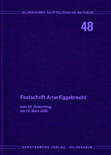 Festschrift Arne Eggebrecht zum 65. Geburtstag am 12. Marz 2000