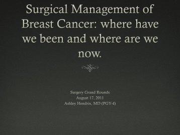 Breast Cancer: the axilla 1 node, 2 nodes, 3 nodes, or 4?