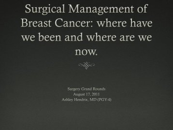 Breast Cancer: the axilla 1 node, 2 nodes, 3 nodes, or 4?