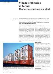Villaggio Olimpico di Torino: Moderna scultura a colori