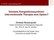 Venöses Kongestionssyndrom – Interventionelle Therapie ... - Saint