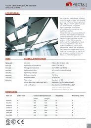 VECTA Expo modular lighting ceiling system