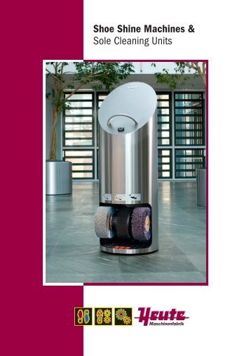 Shoe Shine Machines & Sole Cleaning Units