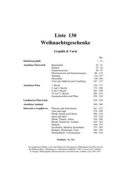 Firmen Weihnachtsgeschenke F303274r Kunden.Liste 130 Weihnachtsgeschenke Wiener Antiquariat Ingo Nebehay