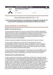 Scultura Ambientale e Lapis Tiburtinus - Accademia di Belle Arti di ...