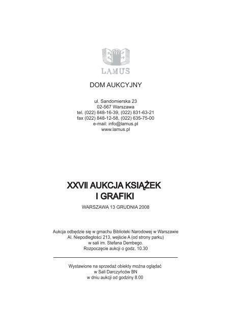 Katalog Historia Sztuki