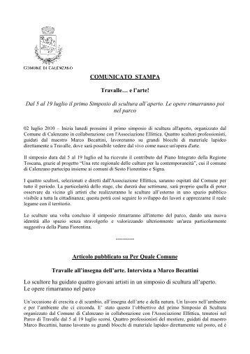 Simposio di scultura - Comune di Calenzano