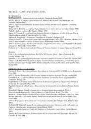 bibliografia dedicata alla scultura lignea - Antiqua.mi