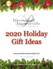 2020 Holiday Gift Guide from Personalized Engraved Gifts