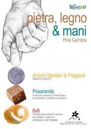 pietra, legno & mani - Azienda per il Turismo Altopiano di Piné e ...