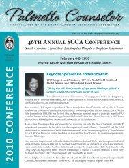 2 010 c o n fer en c e - South Carolina Association Counseling ...