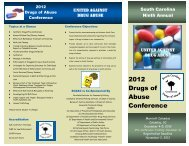 2012 Drugs of Abuse Conference - Carolinas Institute for ...