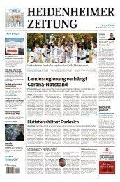 Heidenheimer Zeitung vom 19.10.2020