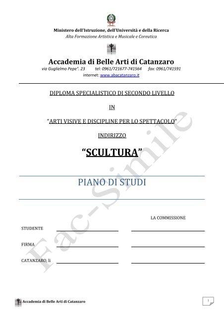 """""""SCULTURA"""" - Accademia di Belle Arti di Catanzaro - abacatanzaro"""
