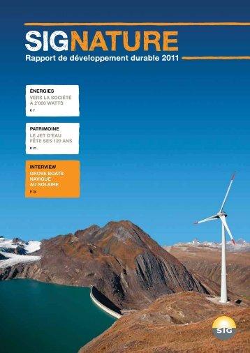 Rapport de développement durable 2011 - SIG