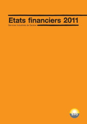Etats financiers 2011 - SIG