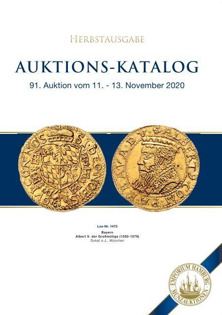 91. Auktion - Münzen & Medaillen - Emporium Hamburg