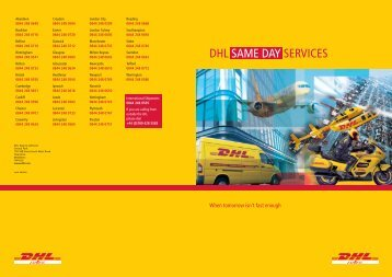 Downloadable PDF - DHL Same Day Couriers
