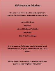 ACLS Certification - Registration Form - Stritch School of Medicine