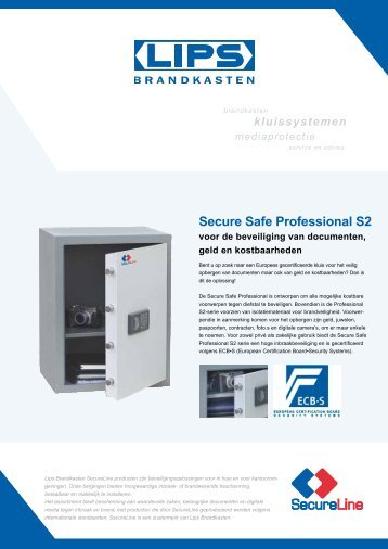 Secure Safe Professional S2 - Lips Brandkasten