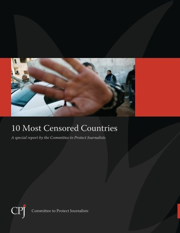10 Most Censored Countries - Committee to Protect Journalists