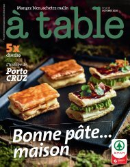 à table Octobre 2020
